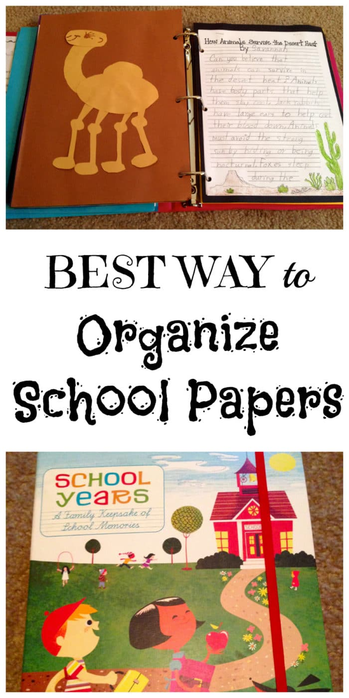 best ways to organize kids schoolwork