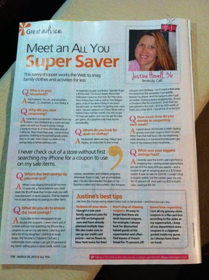 Temecula Qponer shares tips in All You Magazine!