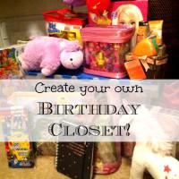 Create a Birthday Closet