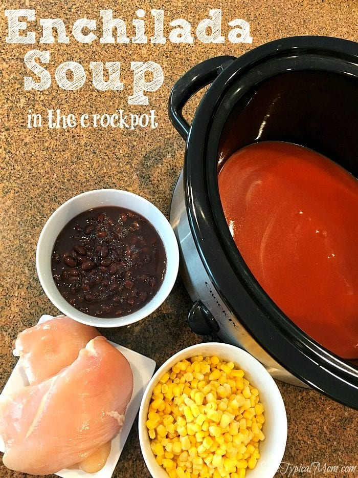 crockpot recipe for chicken enchilada soup