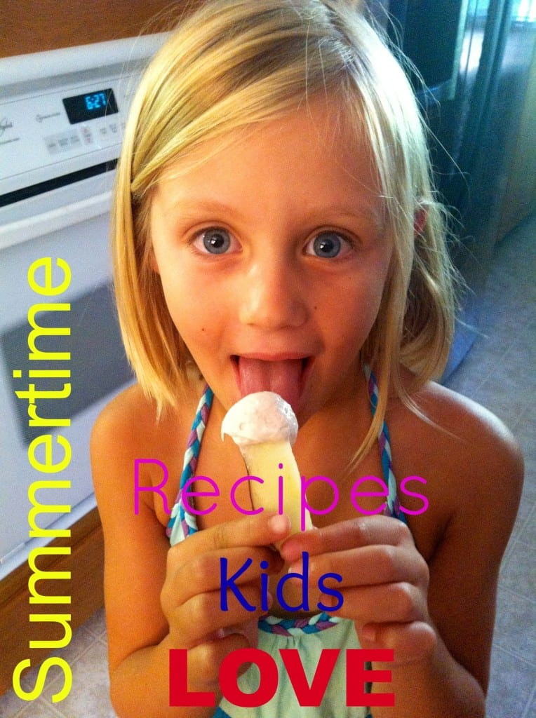 GREAT Summertime snacks that kids love and are easy to make...healthy too.