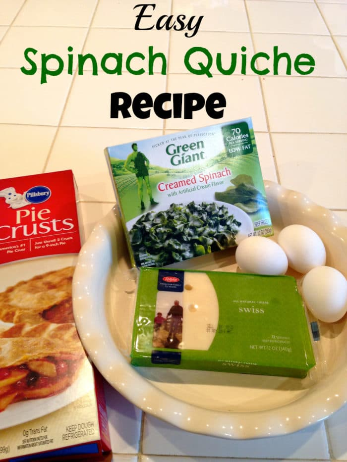 easy quick spinach quiche