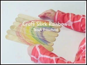 Craft Stick Rainbows