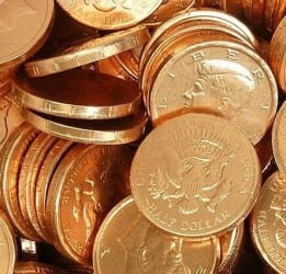 Order chocolate gold coins here