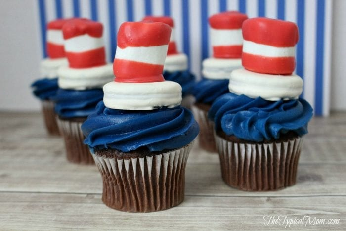 How to make Dr. Seuss cupcakes.