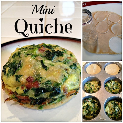 on my easy spinach quiche recipe, so to do this easy mini quiche ...