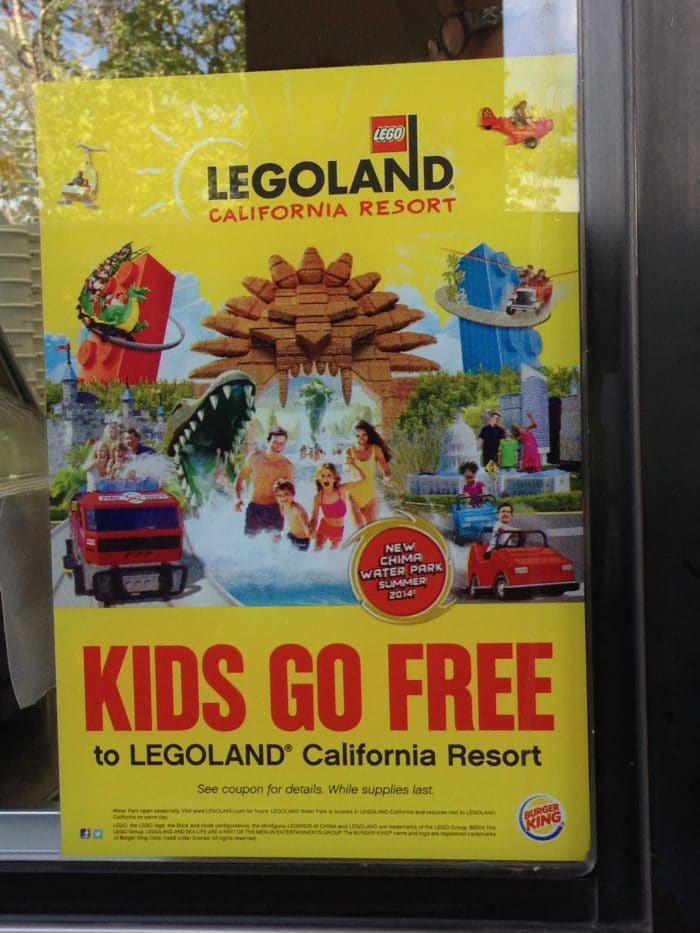 burger king coupons for legoland