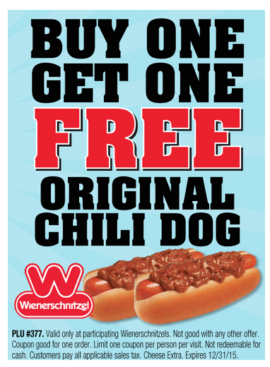 photo about Printable Wienerschnitzel Coupons identified as Tastee Freez Deals · The Common Mother