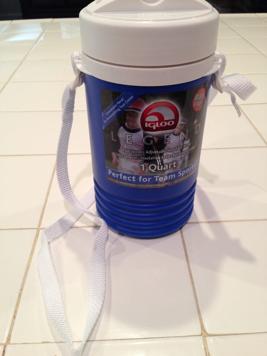 Water bottle with strap