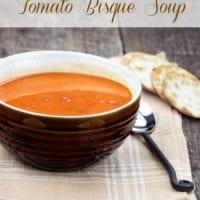 Easy Tomato Bisque Recipe
