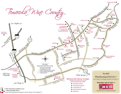 Temecula Winery Map