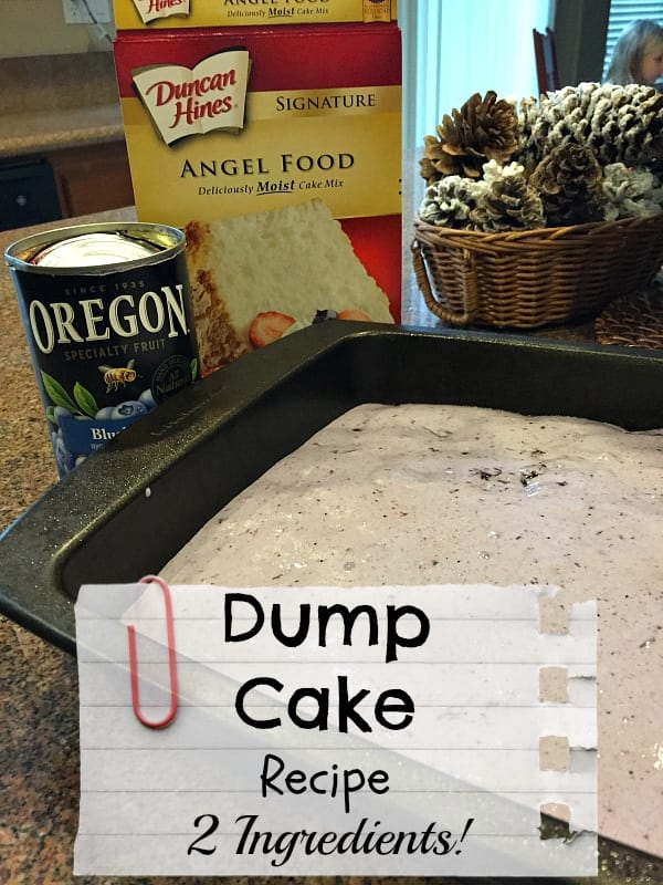 EASY dump cake recipe for the oven or in your slow cooker.