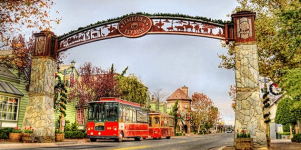 Old Town Temecula Holiday Trolley Tour