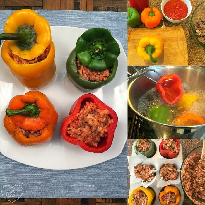 Easy stuffed green pepper recipe
