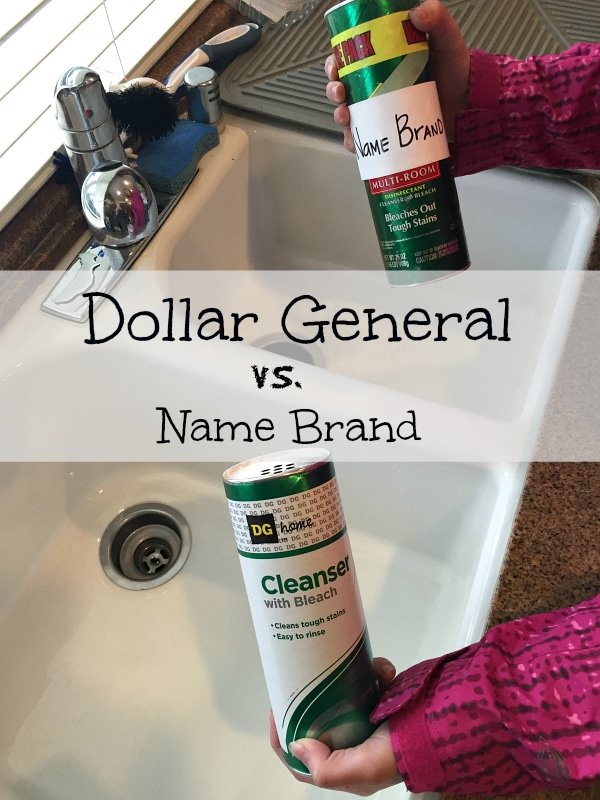 Dollar General versus Name Brand Products