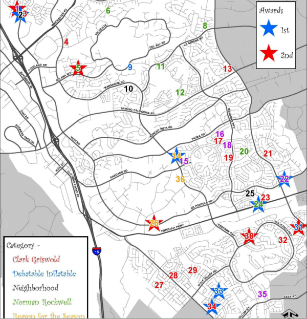 christmas light map 2014 temecula