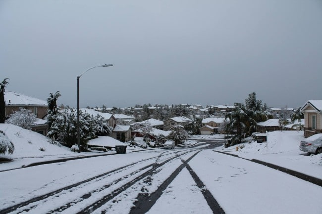snow in temecula
