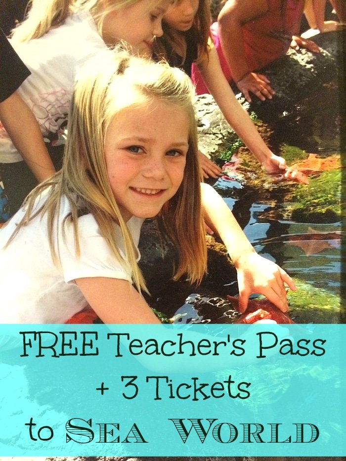 free sea world tickets for teachers