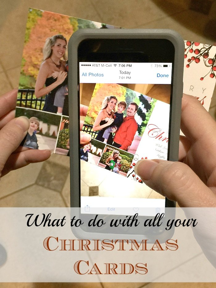 what to do with christmas cards