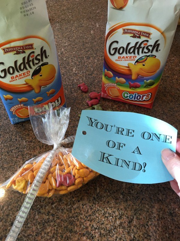 goldfish cracker valentines