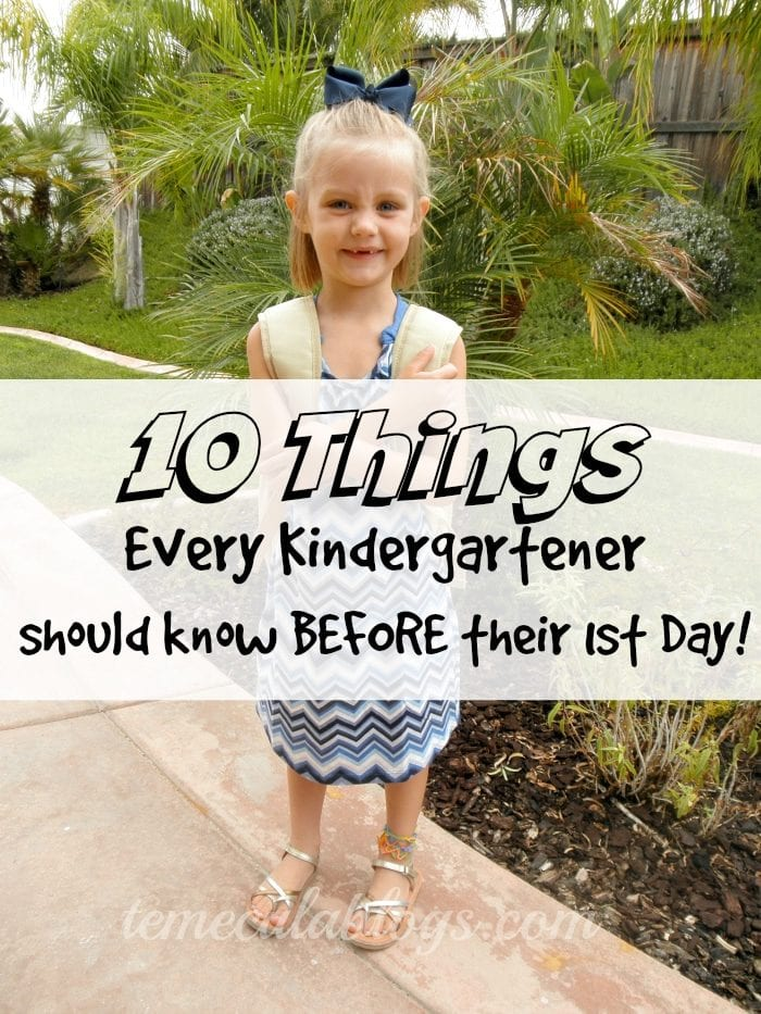 what your child needs to know at kindergarten