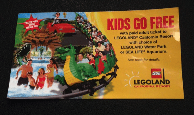 Get 30% off admission for up to six people to LEGOLAND California, LEGOLAND Florida, The San Francisco Dungeon, or any LEGOLAND Discovery Center, Madame Tussauds, or SEA LIFE Aquarium in the U.S. or Canada.