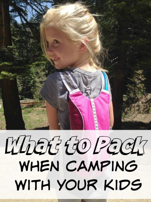 things to pack for camping