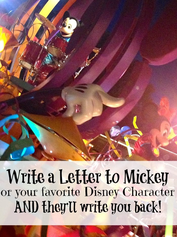 How to get a letter from your favorite Disney character