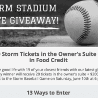 WIN Lake Elsinore Storm Tickets in a Suite + FREE food credit