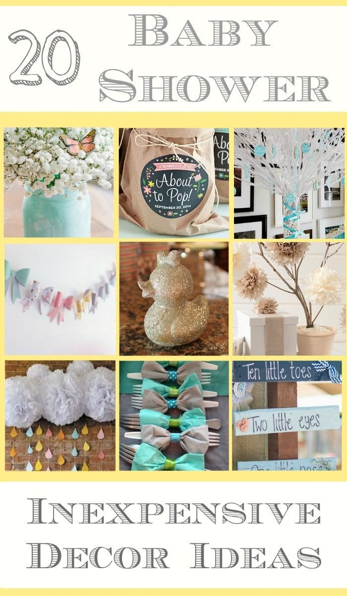 Baby Shower Decoration Ideas For Cheap diy decorating ideas for a baby shower · the typical mom