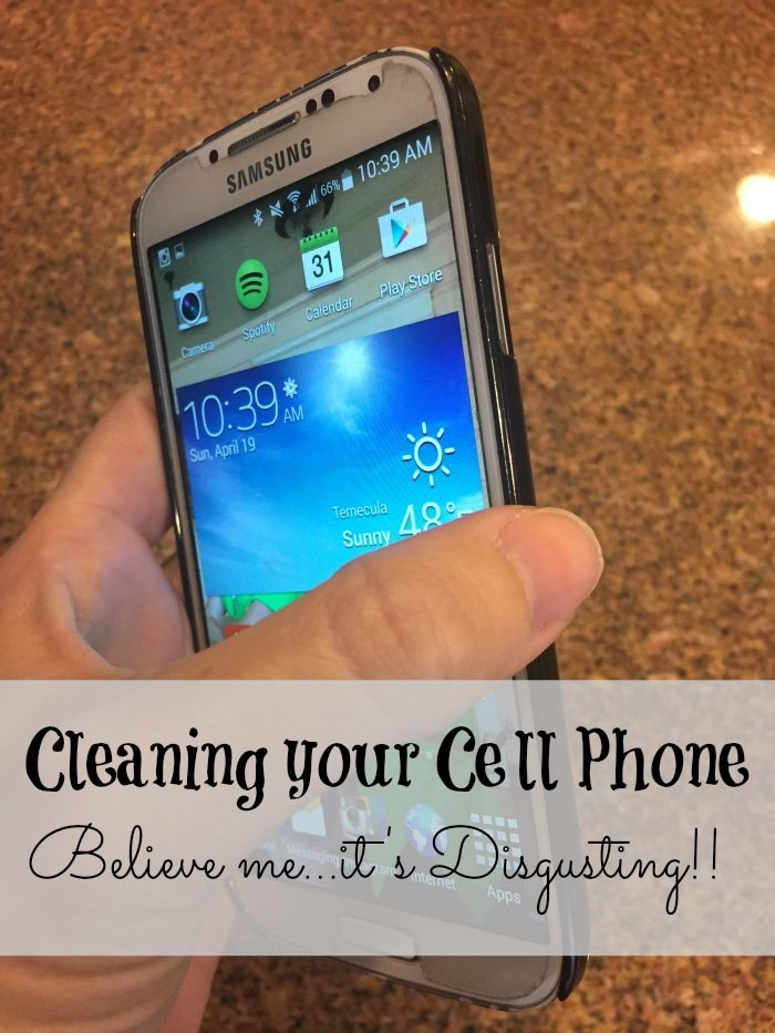 How to clean your cell phone and kill germs the easy way.
