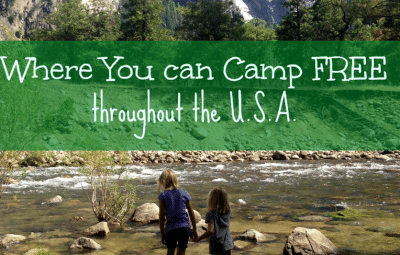 Where you can camp for free.