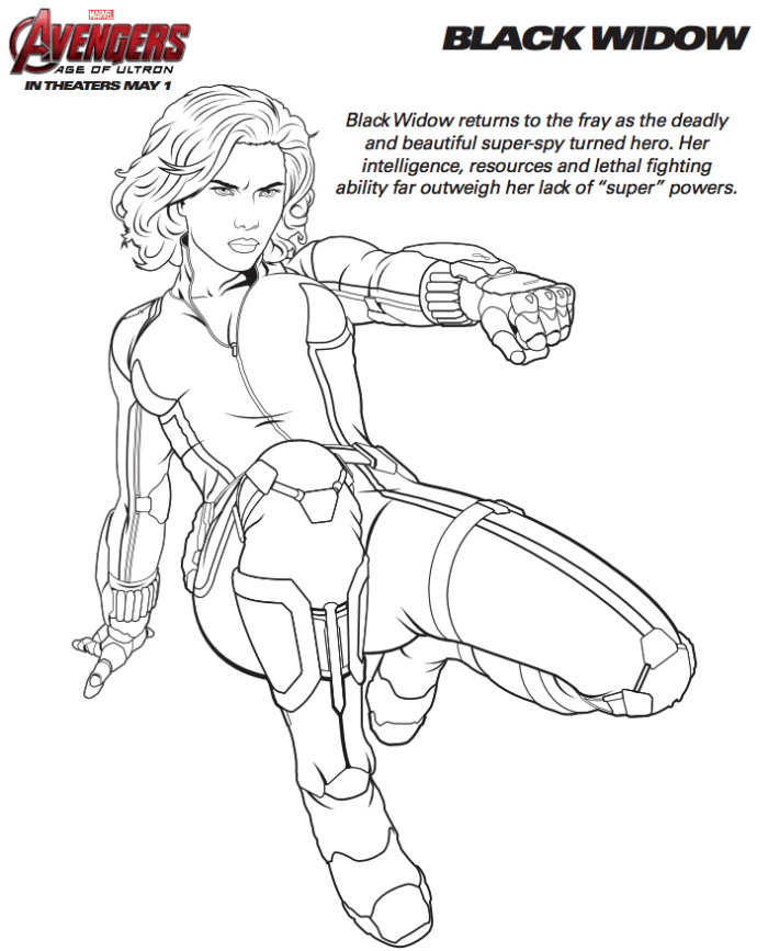 free avenger coloring pages