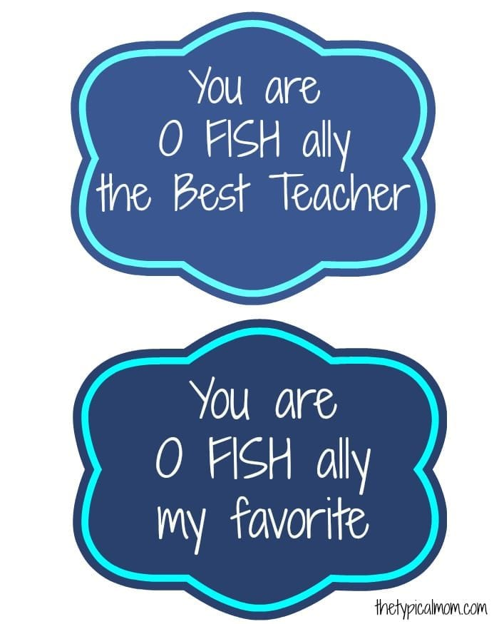 image about O Fish Ally Printable identify Home made Instructors Items · The Conventional Mother
