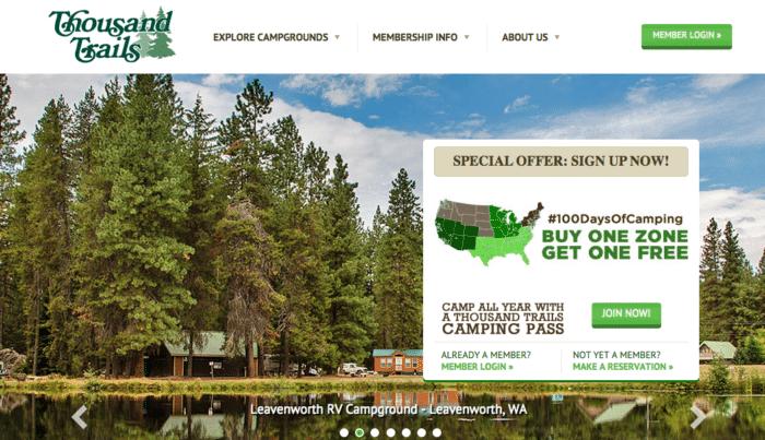Thousand Trails camp pass