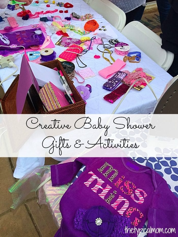 Creative baby shower activities and gifts on a budget.