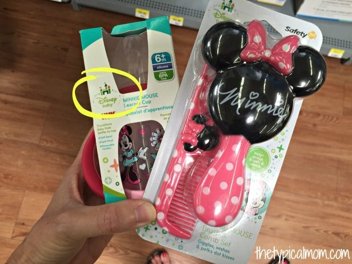 Disney baby items for a baby shower.