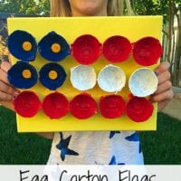 Flag Crafts With Egg Cartons