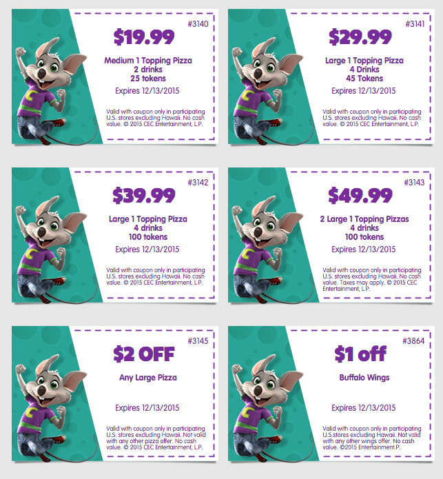 graphic relating to Chuck E Cheese Coupon Printable named Chuck E Cheese Discount coupons · The Conventional Mother