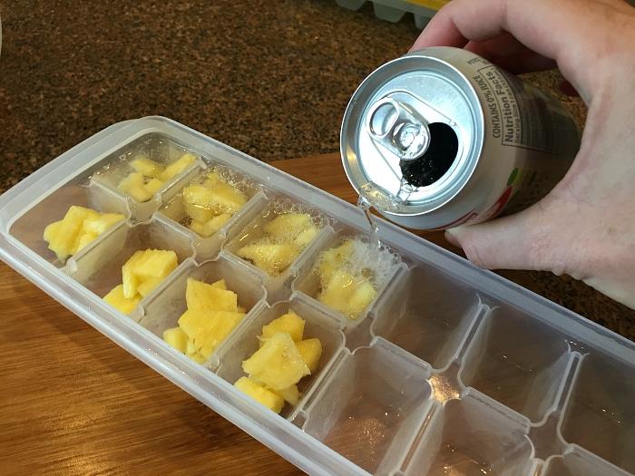 pineapple ice cubes