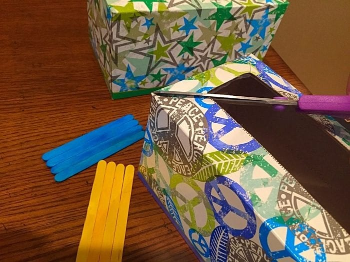 Repurposing kleenex boxes