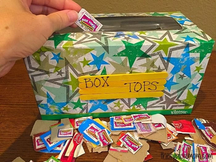 box tops for education container.