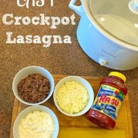 Easy crockpot lasagn