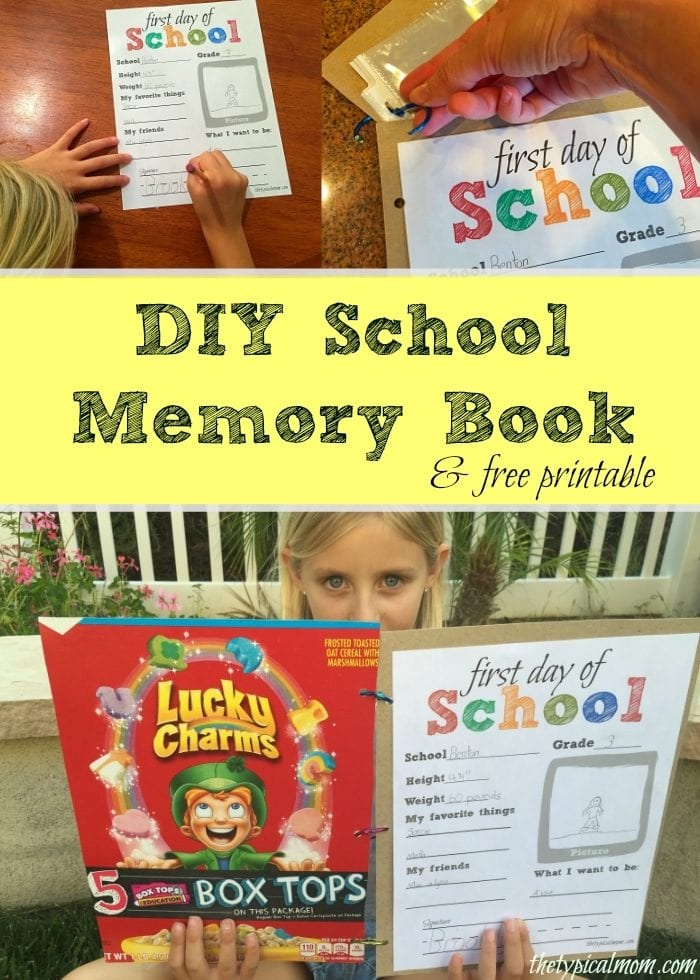 It's just a picture of Memory Book Printable throughout teacher