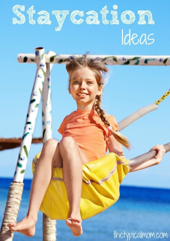 Fun and inexpensive ideas when having a staycation this Summer. Staying at home during the holidays can still be fun, here are some staycation ideas for kids.