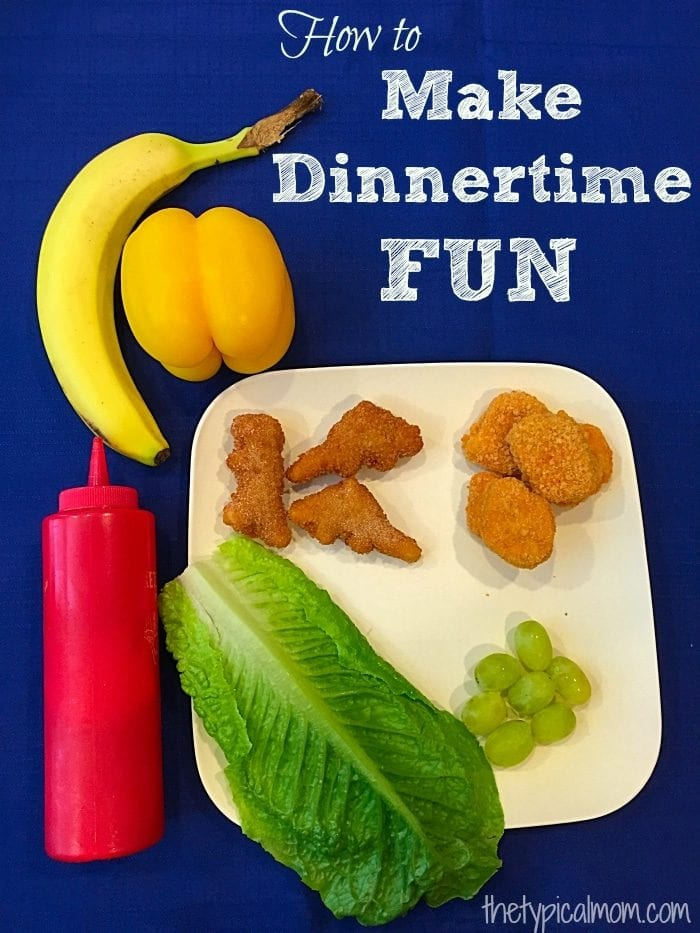 How to make dinnertime fun for kids. Tips on getting kids to try vegetables and new foods.