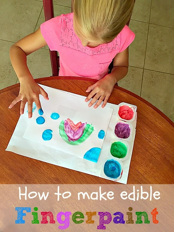 how to make edible fingerpaint the typical mom. Black Bedroom Furniture Sets. Home Design Ideas