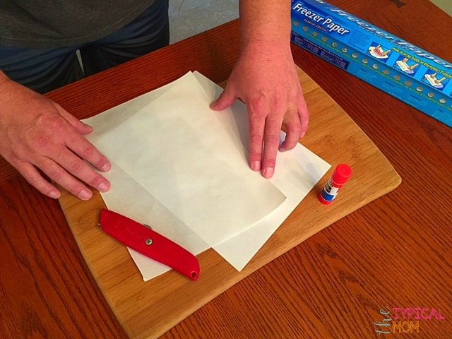 How to print using freezer paper