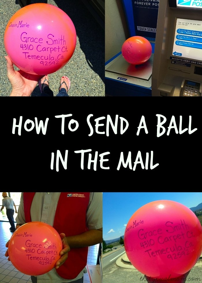 how to send a ball in the mail the typical mom. Black Bedroom Furniture Sets. Home Design Ideas