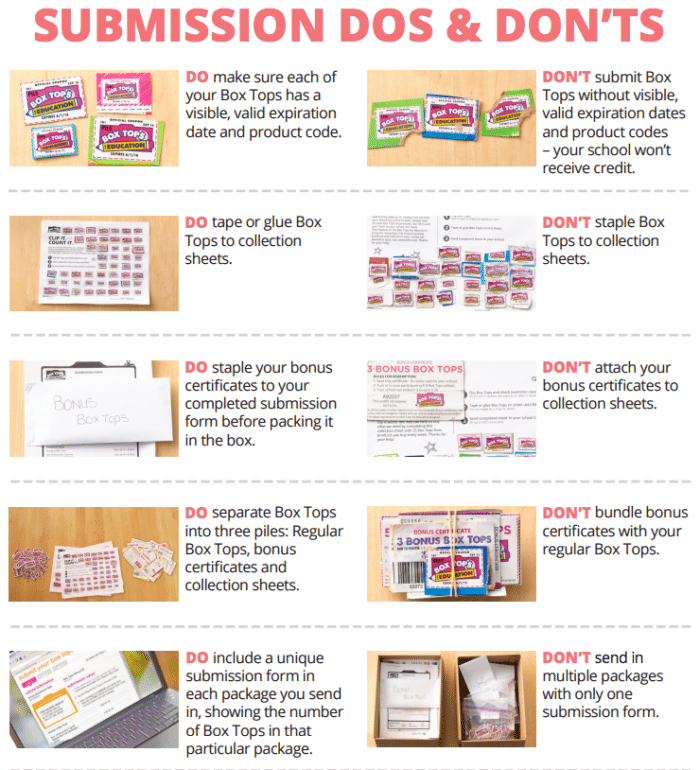 box tops for education forms